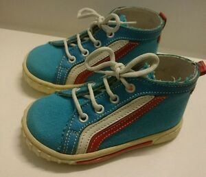 BABY High Sneakers Kinder Schuhe Herbst MADE IN ITALY Gr 21 H.Blau Rot W
