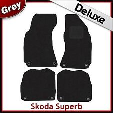 Skoda Superb 2001 2002 2003 2004 2005...2008 Tailored LUXURY 1300g Car Mats GREY