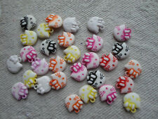 Acrylic ~ Kitty Head ~ Beads ~ Charms ~ Pack of 30