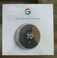 Nest Learning Thermostat - Stainless Steel (T3007ES)