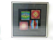 Victor VASARELY ARTE STAMPA LITOGRAFIA farbserigraphie Vega-Noir