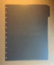 Levenger Circa Discbound Blue Letter Tab Divider