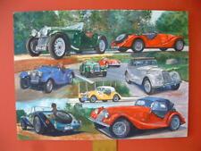 Morgan Sport Cars British ORIGINAL ART watercolor painting