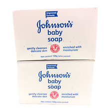 Johnson's Baby Bar Soap Enriched with Moisturizer Lot of (2) 100g Bars EXP 04/21