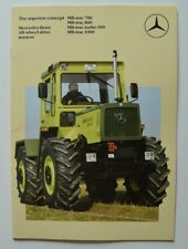 MERCEDES-BENZ MB-trac tractor 1986 dealer brochure catalog - English
