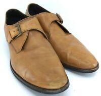 Cole Haan Williams Oxford Mens Siz 13 M Brown Tan Leather Monk Strap Shoe C11118