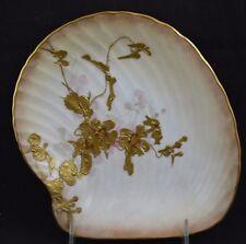Royal Doulton Burslem Bailey Banks Biddle Gold Encrusted Shell Shaped Dish