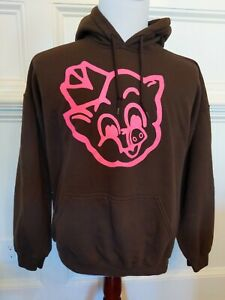 🐷 XL Piggly Wiggly Grocery Store Hoodie Sweatshirt Pullover Brown Pink Big Pig