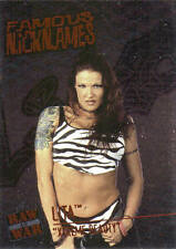 LITA  (XTREME BEAUTY) 2001 Fleer WWE FAMOUS NICKNAMES Foil Insert Card #6FN