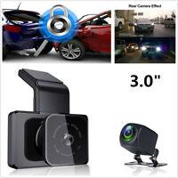 "3""HD Dual Lens WiFi GPS Car DVR Dashcam+Rear View Camera With Phone APP Playback"