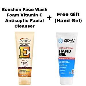 ROUSHUN FACE WASH FOAM VITAMIN E ANTISEPTIC FACIAL CLEANSER 100ML & FREE GIFT #