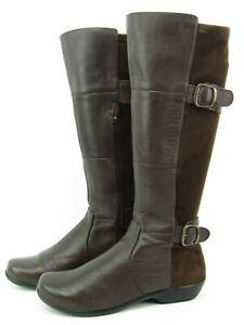Dansko ODESSA Women Brown Napa Leather Knee High Boot Size EU 38 US 7.5 - 8