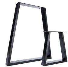 2x Piedi base per tavolo a trapezio, gambe in stile industriale design moderno