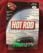 HOT WHEELS JEEP 1941 WILLYS COUPE No. 3/4 HOT ROD MAGAZINE SERIES Rare Piece Hot