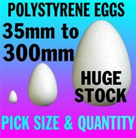 30mm to 300mm Polystyrene EGGS Kids Easter Craft Ideas Modelling Props