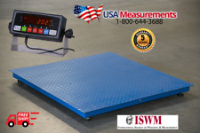 "5 Year Warranty 10,000 lb x 1lb 40""x40"" Floor Scale Pallet Scale with Indicator"