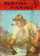 Vintage Hunting & Fishing Magazine April 1938 Great Cover Sporting Jem69