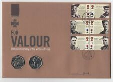 GB QEII  PNC COIN COVER 2006 VICTORIA CROSS 150TH ANNIVERS FOR VALOUR 50P UNC