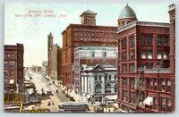 Omaha NE~Berger's Furs~Mandel~Fire Escapes~Farnam St @ 15th~Peoples Store~c1910
