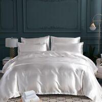Luxury Silky Satin Silk Bed Sheets Set Super Soft Skin Friendly Twin Full Queen