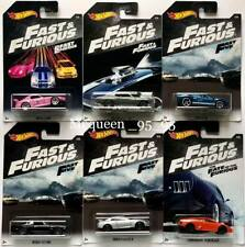 HOT WHEELS 2018 FAST AND FURIOUS SET OF 6 CARNISSAN HONDA LAMBORGHINI CHEVELLE
