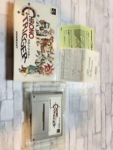 chrono trigger Nintendo Super Famicom Japan Boxed RPG squaresoft box 1995