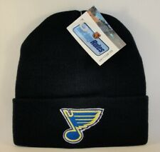 St Louis Blues NHL Vintage Cuffed Knit Hat Navy