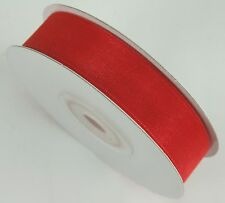 "5/8"" Organza Sheer Plain Ribbon 25 yards each roll 100% nylon"