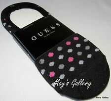 GUESS jeans Polka Dot No show  SOCK Solid SOCKS set of 2 Logo Hosiery Sock 6-10
