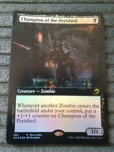 MAGIC THE GATHERING MTG: CHAMPION OF THE PERSIHED FOIL BUY A BOX PROMO NEW NM/M