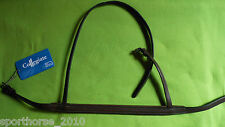 NEW RAISED COLLEGIATE NOSEBAND PONY SIZE BROWN LEATHER FOR BRIDLE SADDLE RY
