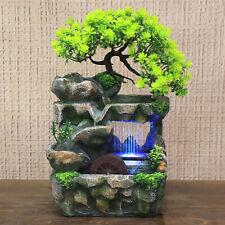 Zimmerbrunnen Springbrunnen Dekoration LED Steingärten Wasserspiel Bäume Lampe