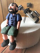 3D HANDMADE GOLF PLAYER / SITTING GOLFER birthday topper