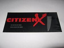 RARE VINTAGE 1995 CITIZEN X PREMIERE SCREENING MOVIE TICKET - MAX VON SYDOW