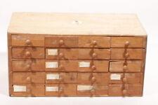 kleiner Uhrmacher 20 Schubladen Schrank Holz 1940er Jahre Deutsch R. FLUME