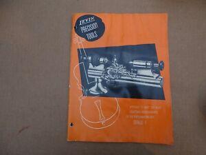 LEVIN PRECISION TOOLS CATALOG - E 1949 HOROLOGY & WATCHMAKERS TOOLS CATALOG