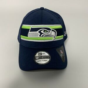 New Era Seattle Seahawks 39Thirty Striped Front L/XL Stretch Fit Hat NEW