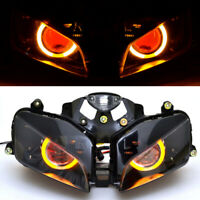 Yellow Angel Red Demon Eye Projector Headlight Assembly For Honda CBR600RR 03-06