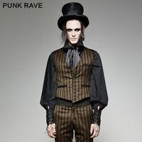 Punk rave gothic steampunk mens vest vintage Gentlmen clothes Waistcoat