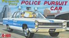 1960s JOHAN Plymouth Fury Police Pursuit Car model replica fridge magnet - new!