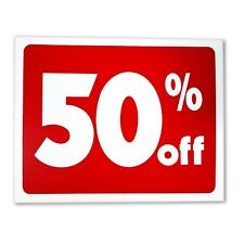 (5) Sale 50% Percent Off Business Retail Store Discount Promotion Message Sign