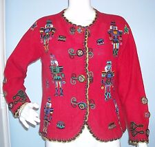 Miss Jacksons Red Christmas Nutcracker Sweater