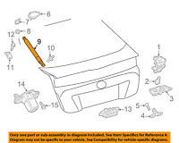 Toyota 68950-49375 Hatch Lift Support