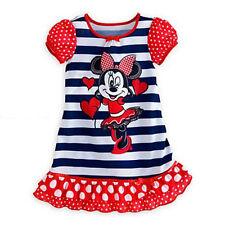 Girls Kid Disney Princess Moana Elsa Summer Nightdress Pajamas Nightwear Nightie