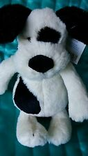 "jellycat ""I am small Bashful black & cream puppy "" soft toy with tags approx 8"""