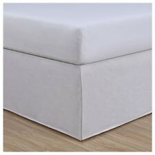 Linenweave Vintage Washed Twin Bed Skirt In White 15� Drop