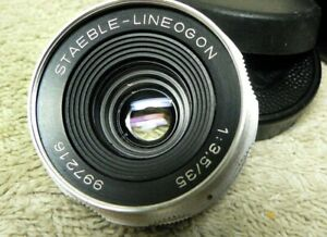 Vintage RARE Staeble Lineogon 35mm f/3.5 for Braun Paxette - LTM M39 LEICA Screw