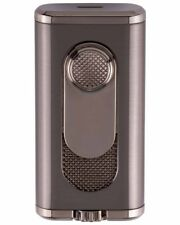 XiKAR 554G2 Verano Flat Flame Cigar Lighter Gift Box Warranty Gunmetal