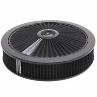 "EDELBROCK AIR CLEANER 14"" X 3"" HOLLEY 4150/4160 FILTER ASSEMBLY BLACK  ED43662"