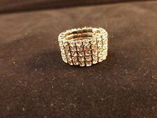 Fila 5 Cristal claro anillo de estiramiento Oso Blanco Oro Colores (no incluido) & Bolsa De Regalo